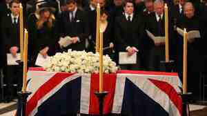 Former British Prime Minister Margaret Thatcher's funeral was held Wednesday at London's St. Paul's Cathedral.