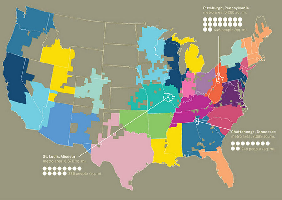 A Whom Do You Hang With Map Of America Krulwich Wonders NPR - St louis missouri on us map