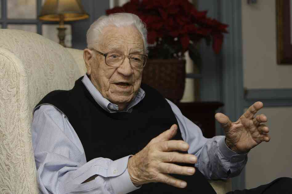 George Beverly Shea talks at his home in Montreat, N.C. in Jan., 2009.
