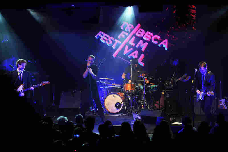 The National, subject of the documentary film Mistaken For Strangers, performed at the April 17 opening-night party for the 12th annual Tribeca Film Festival.