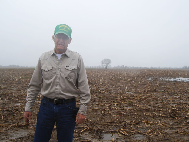 Missouri farmer Gary Riedel says wet weather will put him about a month behind last year's planting.