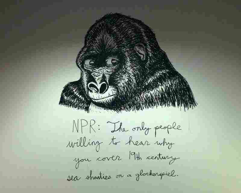 """""""NPR: The only people willing to hear why you cover 19th century sea shanties on a glockenspiel."""""""