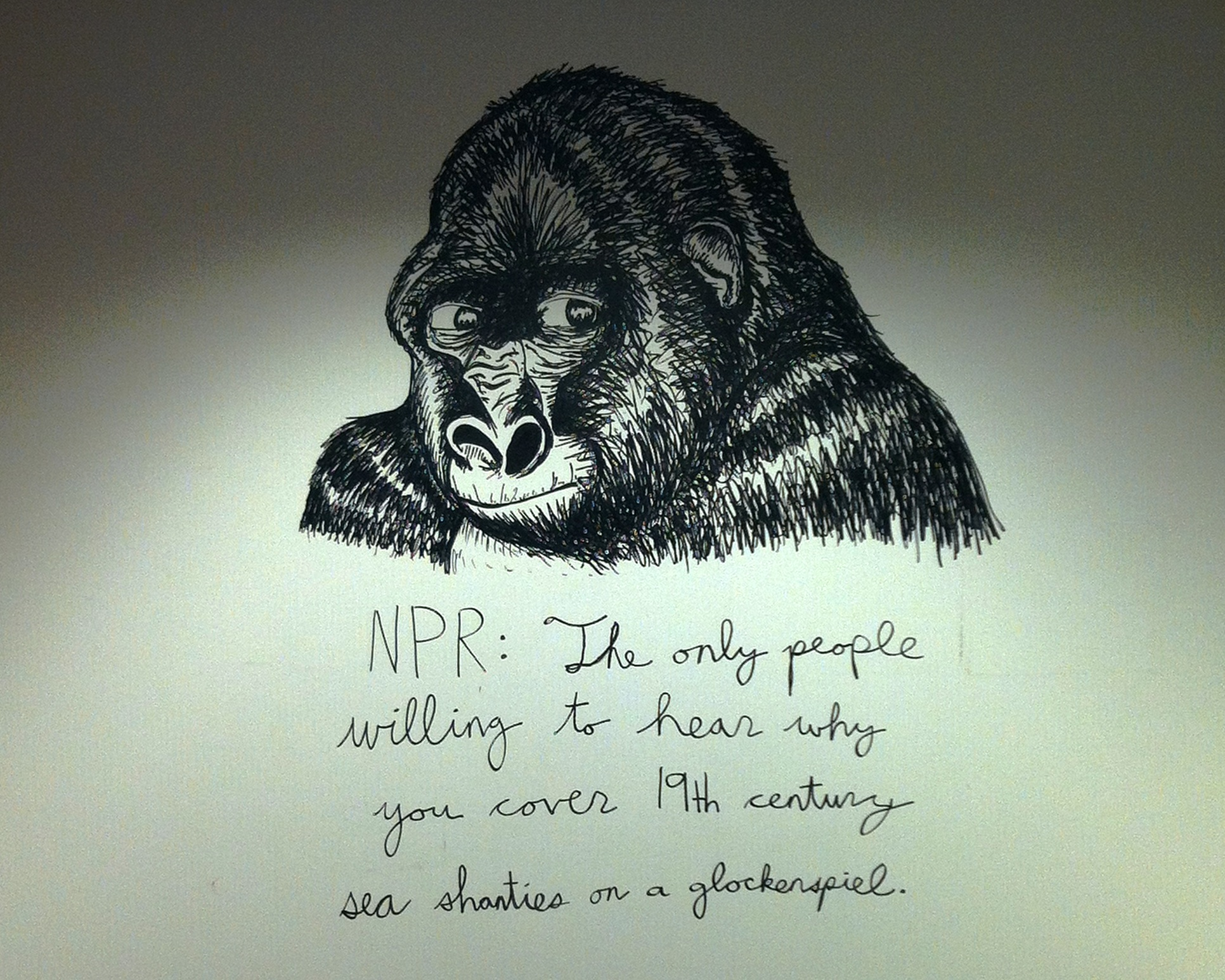 """NPR: The only people willing to hear why you cover 19th century sea shanties on a glockenspiel."""