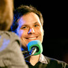 Host Ophira Eisenberg interviews V.I.P. (Very Important Puzzler) Michael Ian Black.