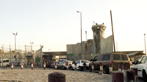 Israel built a permanent checkpoint at Qalandia after the second intifada began. It is one of many Israeli checkpoints throughout the West Bank.