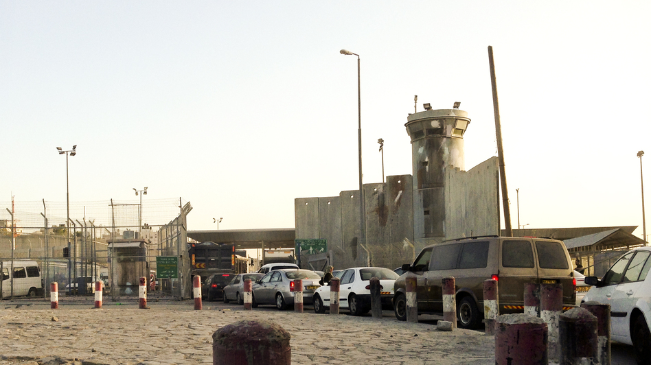 Israel built a permanent checkpoint at Qalandia after the second intifada began. It is one of many Israeli checkpoints throughout the West Bank. (NPR)