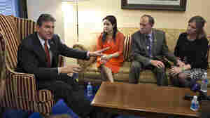 Stubbornly, Manchin Maintains Optimism On Background Checks