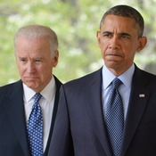 President Barack Obama and Vice President Joe Biden just before delivering remarks on  gun control.