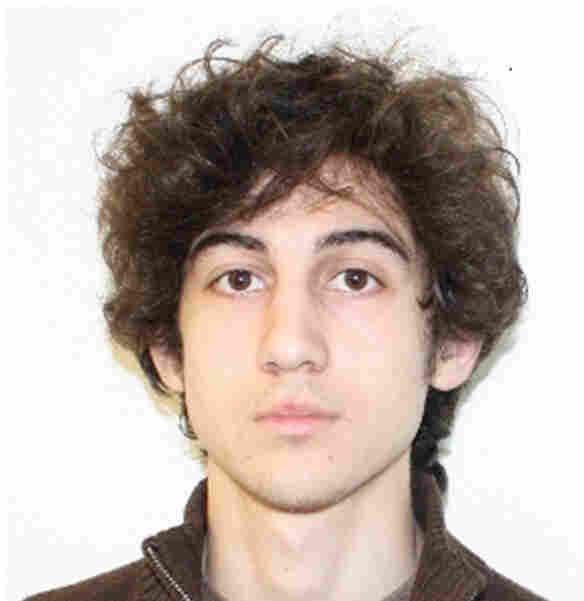 Dzhokhar Tsarnaev, the subject of the manhunt in Boston, in a photo released by the FBI. He's a suspect in the Boston Marathon bombings.