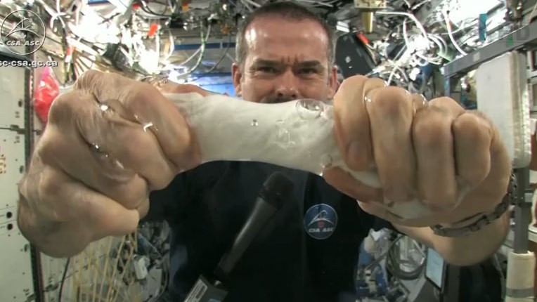 A Wet Towel In Space Is Not Like A Wet Towel On Earth : NPR