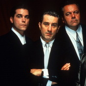 Actors Ray Liotta (from left), Robert De Niro, Paul Sorvino and Joe Pesci in Martin Scorsese's Goodfellas.