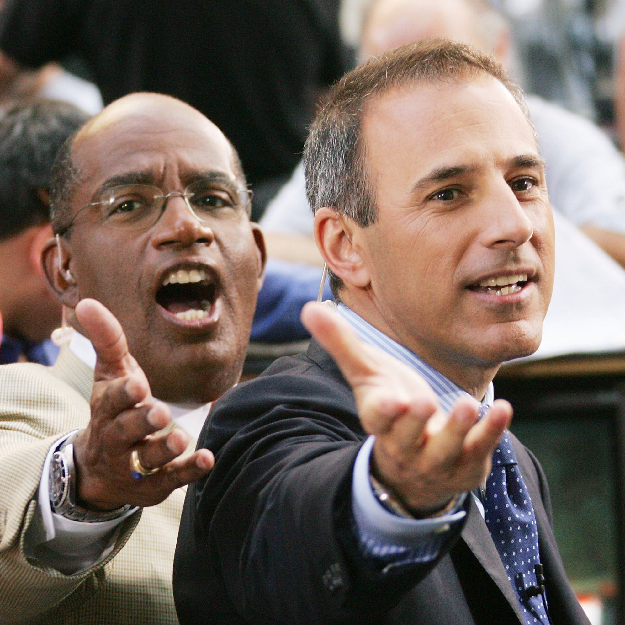 Today Show hosts Al Roker and Matt Lauer in 2005.