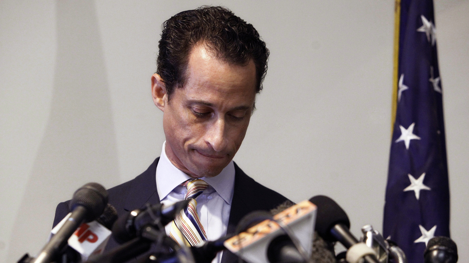 U.S. Rep. Anthony Weiner announces his resignation from Congress on June 16, 2011, in New York. The disgraced former congressman is reportedly considering a run for New York mayor.