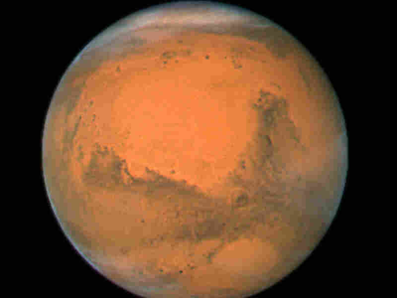 NASA's Hubble Space Telescope took this close-up of the red planet Mars when it was just 55 million miles away in 2007.