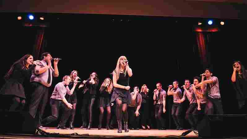 The Nor'easters, of Northeastern University, perform at the International Competition of Collegiate A Cappella on Saturday night.