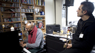 The duo's quietly energetic performance hangs over the the NPR Music offices like a soft mist.