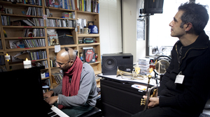Omar Sosa performs a Tiny Desk Concert on Jan. 30, 2013.