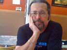 John Rippo in July 2012 in a coffeehouse called Espresso Mio, in San Diego's Mission Hills neighborhood.