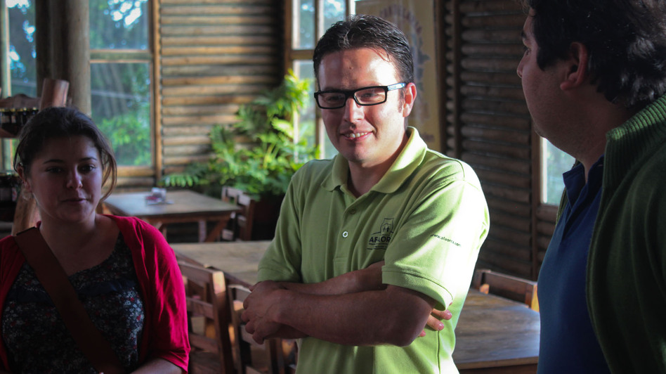 Christian Mora is the general manager of AFAORCA, a fair trade coffee cooperative in Costa Rica. (NPR)