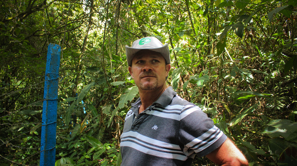Luis Fernando Vasquez has been a coffee farmer in the central valley of Costa Rica his entire life. (NPR)