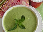Chilled Garden Pea And Mint Soup