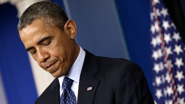 President Obama makes a statement in the White House briefing room just a few hours after the bombings at the Boston Marathon on April 15. (Getty Images)