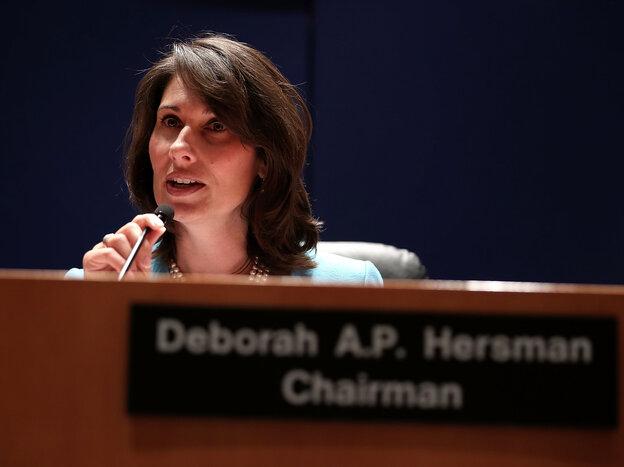 NTSB Chairwoman Deborah Hersman during Tuesday's hearing.