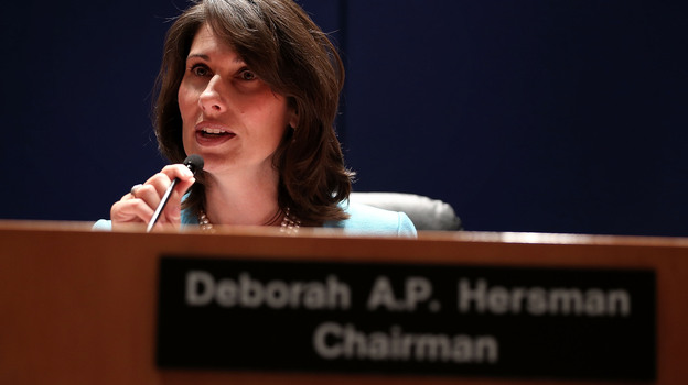 NTSB Chairwoman Deborah Hersman during Tuesday's hearing. (Getty Images)