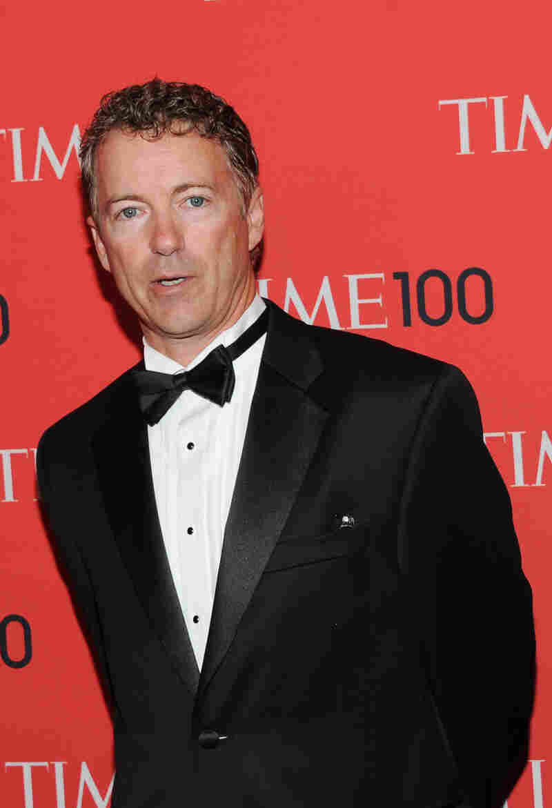 """Sen. Rand Paul, R-Ky., attends a ceremony for Time's """"100 Most Influential People in the World"""" in New York on Tuesday."""