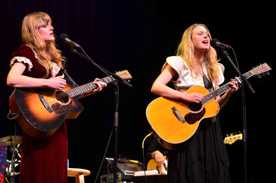 The Chapin Sisters' Abigail and Lily Chapin perform live on Mountain Stage.