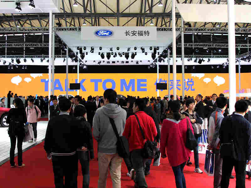 Ford, the No. 12 passenger-car seller in China, is showing off 23 vehicles at its exhibit at the Shanghai International Automobile Industry Exhibition this week.