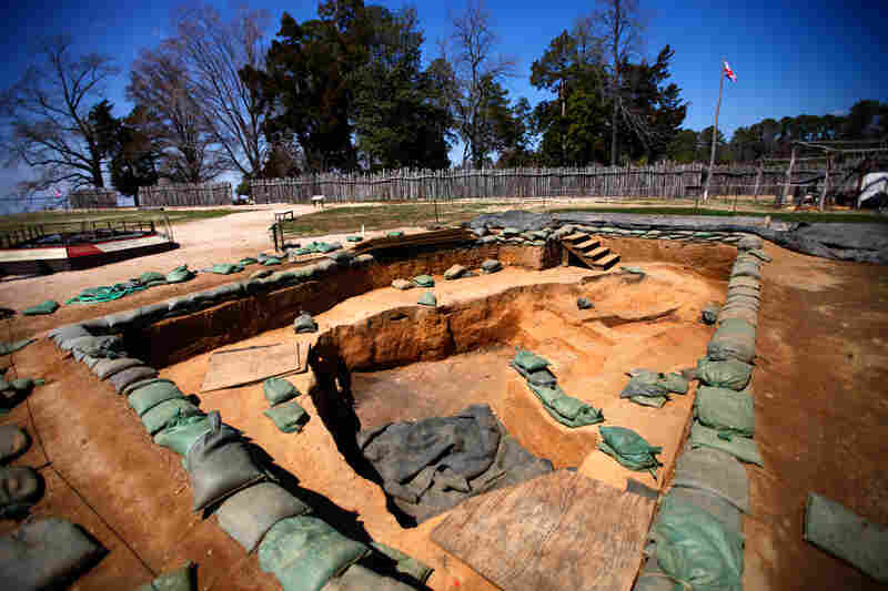 A view of the continuing excavations at Jamestown fort.
