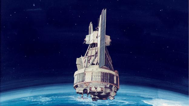 An artist's rendering of the Nimbus 1. (NASA)