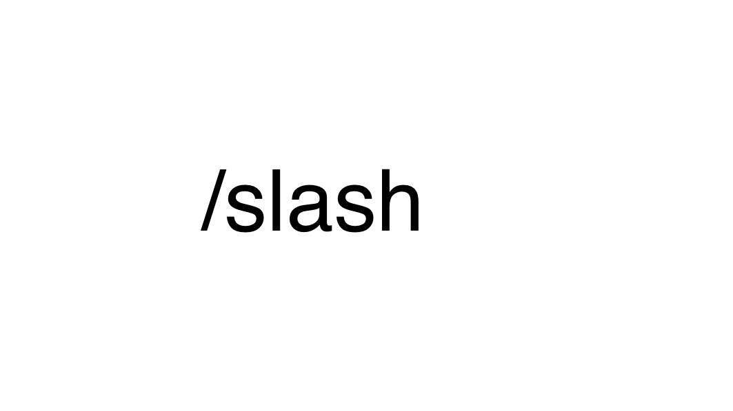 'A Rare Bird Sighting': 'Slash' As A New Conjunction