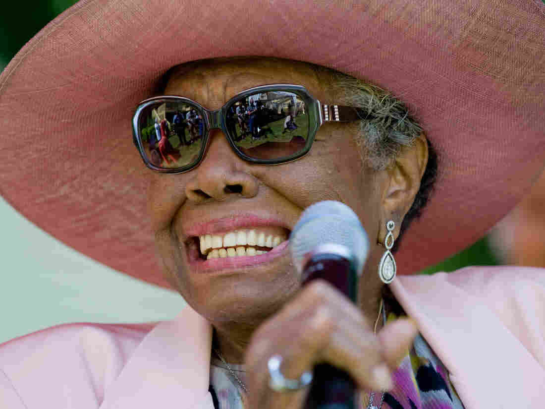 Writer and poet Maya Angelou attends her 82nd birthday party in Winston-Salem, N.C.