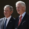 President Obama, former presidents George W. Bush, Bill Clinton, George H.W. Bush and Jimmy Carter attend the opening ceremony of the George W. Bush Presidential Center on Thursday in Dallas, Texas. The Bush library, which is located on the campus of Southern Methodist University, with more than 70 million pages of paper records, 43,000 artifacts, 200 million emails and four million photographs.
