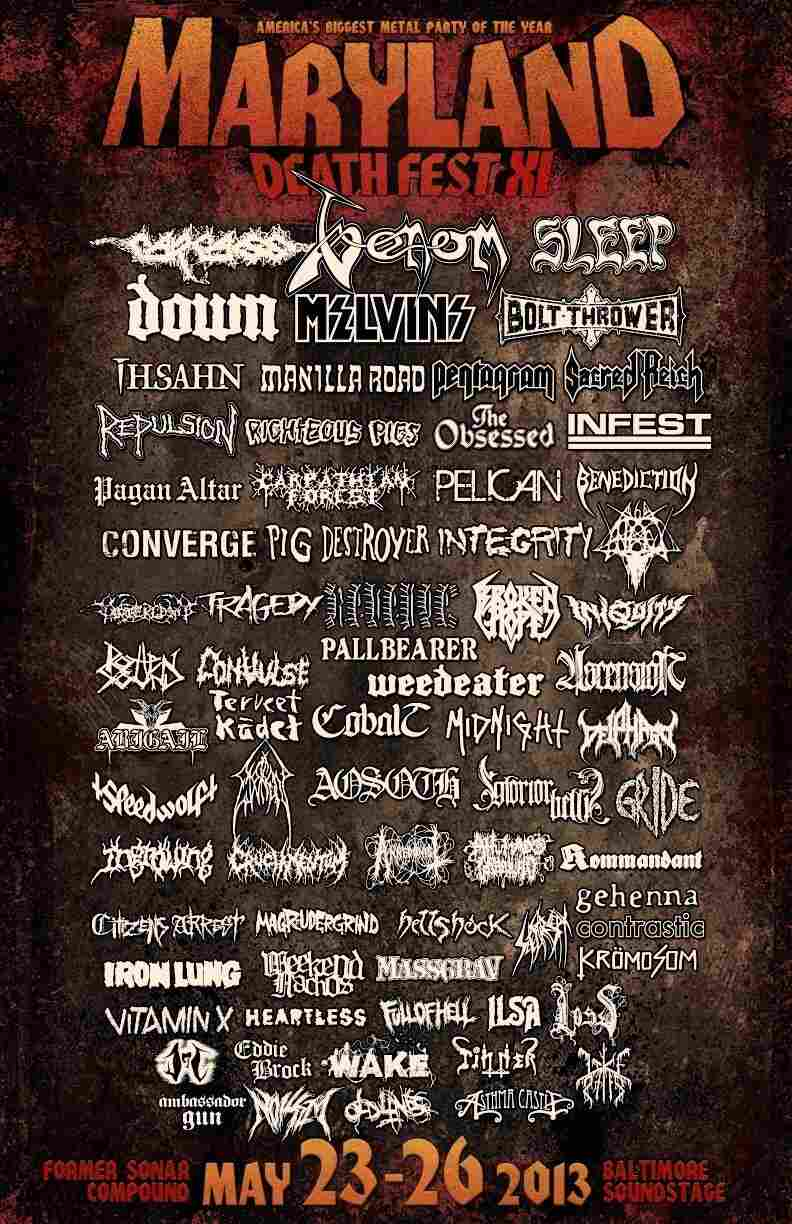 Maryland Deathfest poster XI.