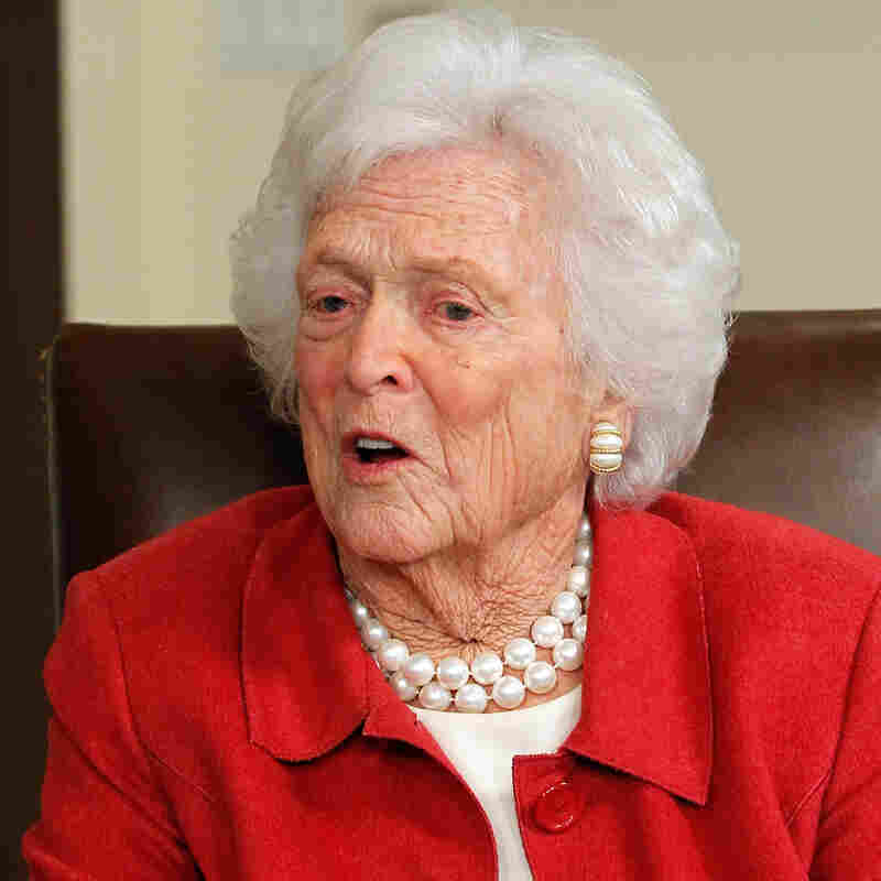 Former first lady Barbara Bush in March 2012.