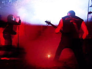 Still from Dragged Into Sunlight's set at Maryland Deathfest