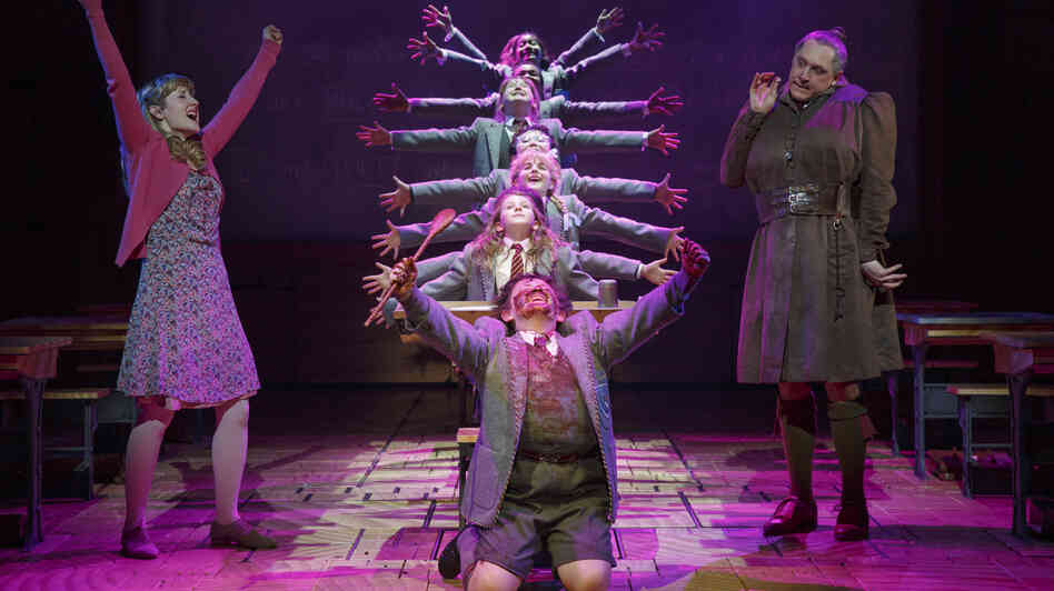 The Broadway musical Matilda put NPR's Bob Mondello in mind of two other big-budget tuners with plucky kids at the center of the action — and got him thinking about what these shows say about their eras.