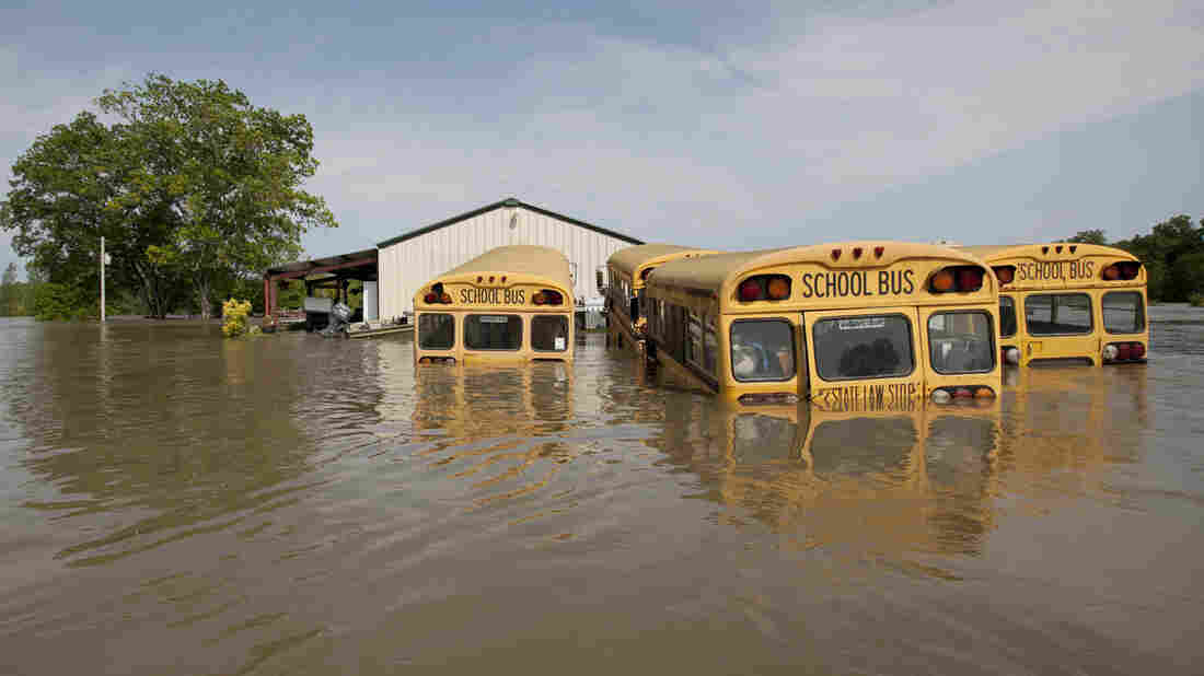 Mississippi River floodwaters in Vicksburg, Miss., in 2011.