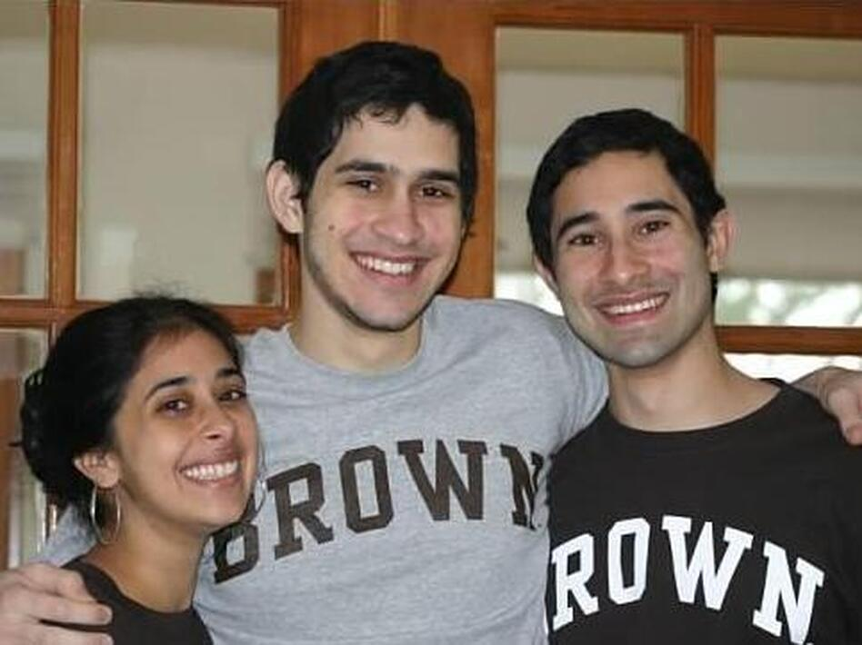 Sangeeta (from left), Sunil and Ravi Tripathi. Sunil had been missing since March, and rumors on social media had erroneously implicated him in last week's Boston Marathon bombings.
