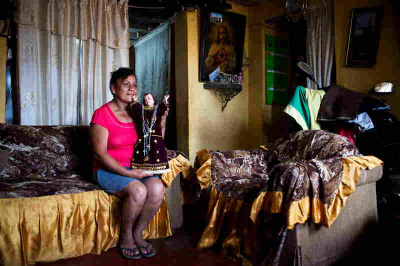 Abigail Avila, 54, has lived all her life in El Ayllu. She has lived 27 years in this house.