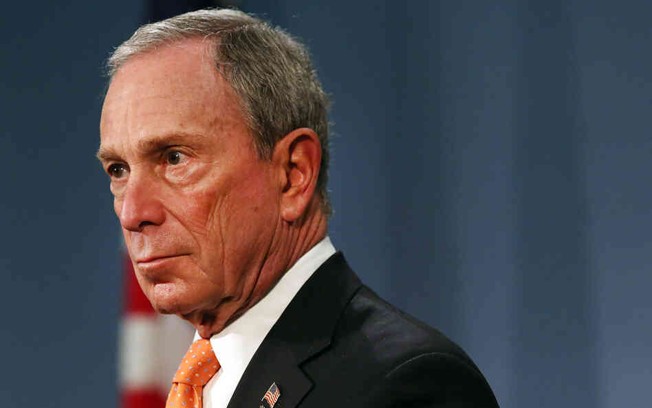 New York City Mayor Michael Bloomberg spe