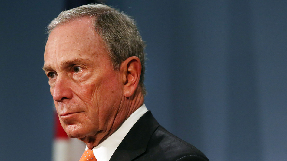 "New York City Mayor Michael Bloomberg speaks at a news conference at City Hall  on April 25. The billionaire mayor has been spending from his personal fortune to provide a ""political counterweight to the NRA,"" his policy adviser says. (Getty Images)"