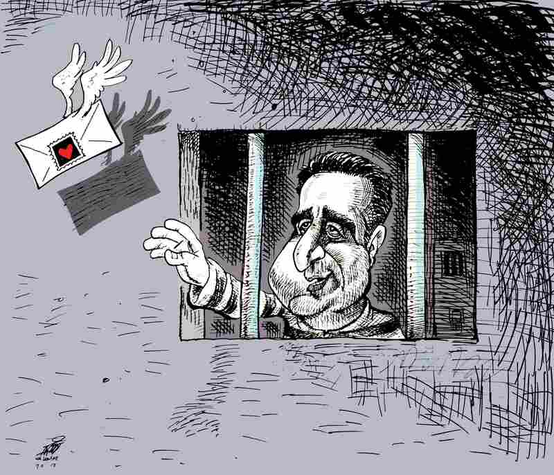 """Mostafa Tajzadeh"" by Nikahang Kowsar: After Iran's 2009 elections, Tajzadeh was arrested and sentenced to six years in prison. His charges included ""propaganda against the regime."""