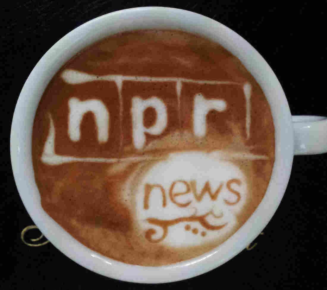 NPR latte art