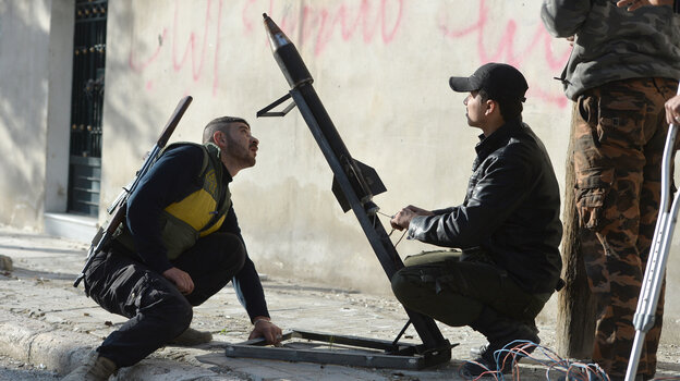 The White House said this week that it believes Syria has been using chemical weapons, but President Obama has not said how the U.S. might respond. Here, rebel fighters in Syria prepare to launch of a rocket in the northern Syrian city of Aleppo, on April 21. The rebels have also accused the Syrian government of employing chemical weapons.
