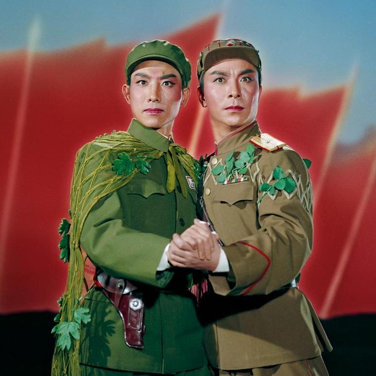 A Chinese and a North Korean embrace in a pledge of everlasting (political) love. From Raid on the White Tiger Regiment, 1971.