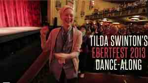 Tilda Swinton dances at the 2013 Ebertfest.